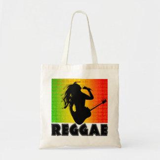 Reggae Music Rasta Rastaman Guitar Budget Tote Bag
