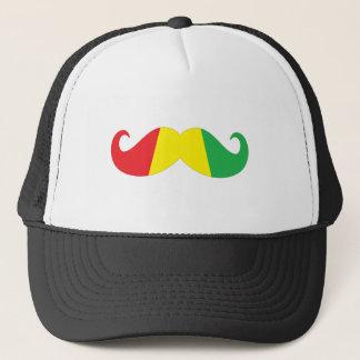 reggae mustache trucker hat