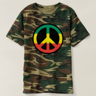 Reggae Peace symbol - Rastafara - Jah Army shirt