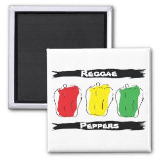 Reggae Peppers Magnet