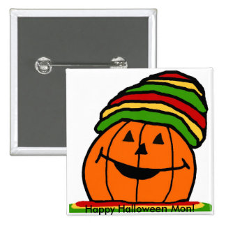 Reggae pumpkin button