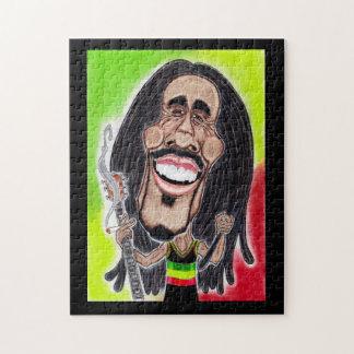 Reggae Rasta Jamaica Caricature Drawing Puzzle