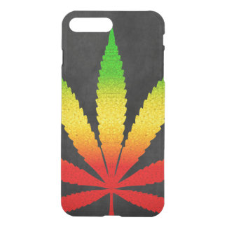 Reggae Rasta Leaf Rastafarian Colors Cool Clearly iPhone 7 Plus Case