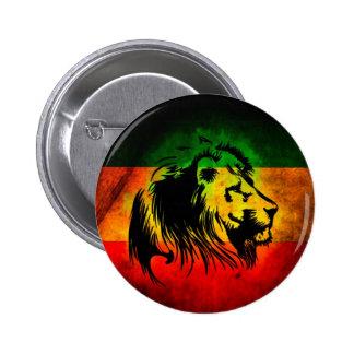 Reggae Rasta Lion 2 Inch Round Button