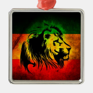 Reggae Rasta Lion Metal Ornament