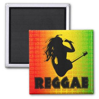 Reggae Rasta Rastafarian Jamaican Square Magnets