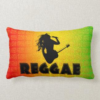 Reggae Rasta Rastafarian MoJo Lumbar Throw Pillow