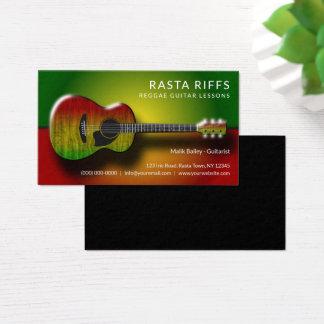 Reggae Rasta Riffs Guitar Lessons Music Teacher Business Card