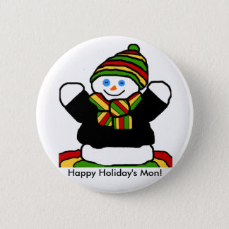 Reggae snowman button