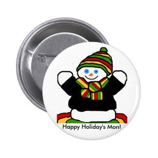 Reggae snowman button