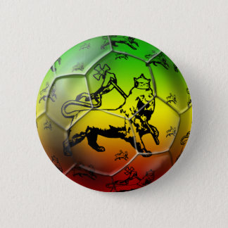 Reggae Soccer - Rasta soccer football team 2 Inch Round Button