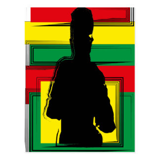 Reggae sore art postcard