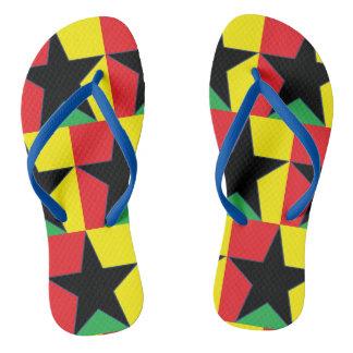Reggae Star Flip Flops