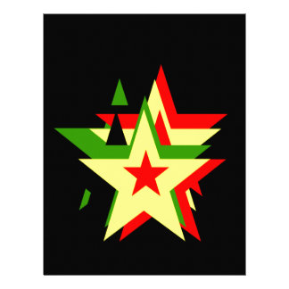 Reggae star letterhead design