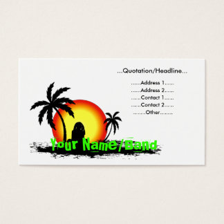 Reggae sunset business card