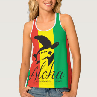 Reggae Turtles in Hawaii Tank Top