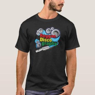 ReggaeDiscography Bubble Speakers on Black T-Shirt