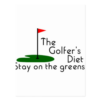 Régime de golfeurs carte postale