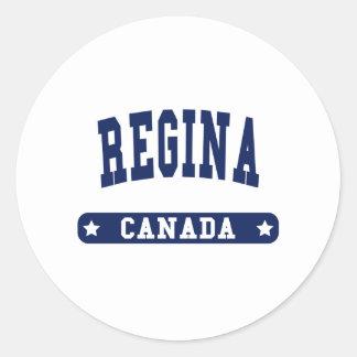 Regina Classic Round Sticker