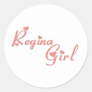Regina Girl Classic Round Sticker