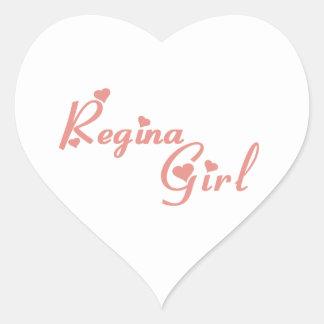 Regina Girl Heart Sticker