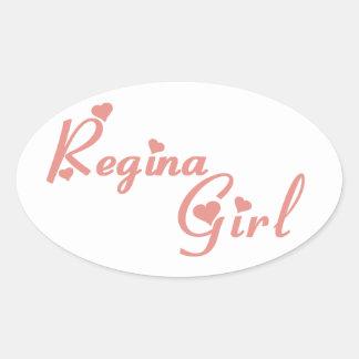 Regina Girl Oval Sticker