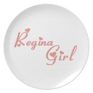 Regina Girl Plate