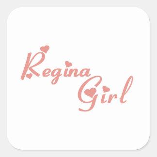 Regina Girl Square Sticker
