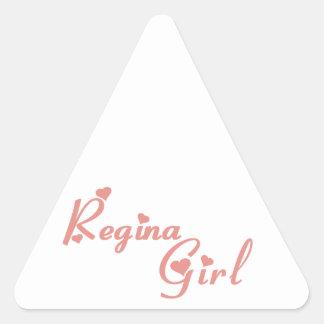 Regina Girl Triangle Sticker