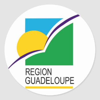 Region Guadeloupe flag Classic Round Sticker