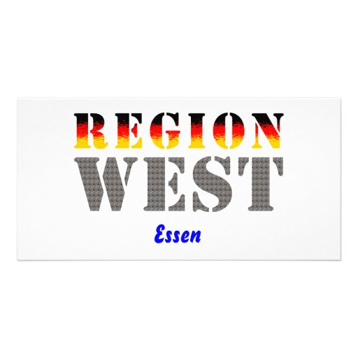 Region west - meals photo card template