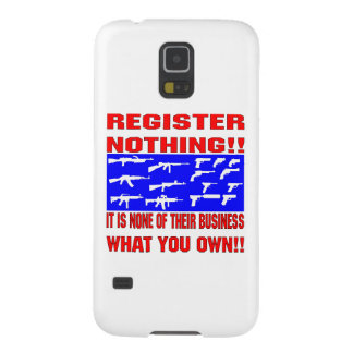 Register Nothing (Guns) Galaxy S5 Covers