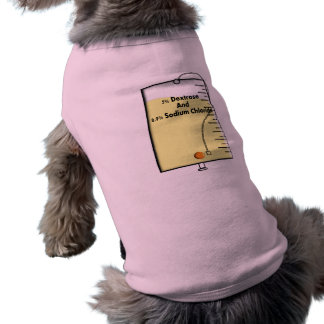 Registered Nurse IV Bag Design Dog Tee Shirt