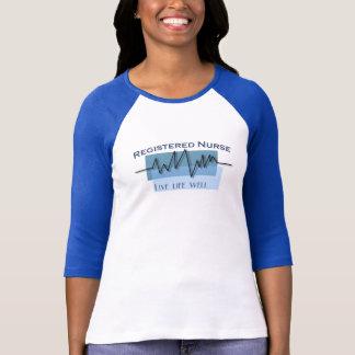 Registered Nurse  Live Life Well Logo T-Shirt