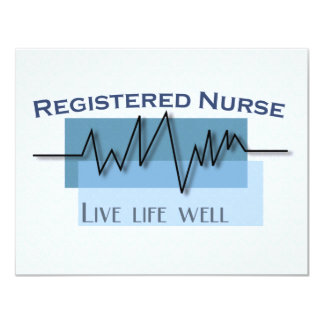 Registered Nurse Live Life Well Personalized Card