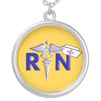 Registered Nurse Necklace Sterling Silver