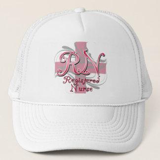 Registered Nurse, Pink Cross Swirls Trucker Hat