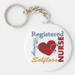 Registered Nurse - RN Basic Round Button Keychain