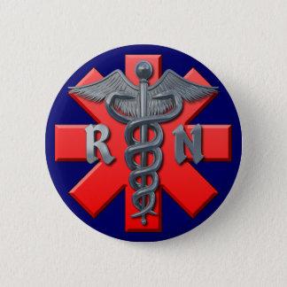 Registered Nurse Symbol 2 Inch Round Button
