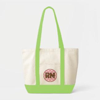 Registered Nurse Tote Bag Pink Polka Dots