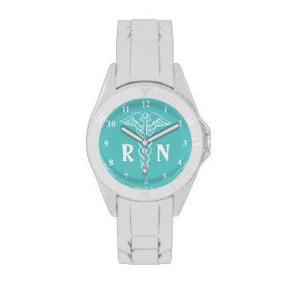 Registered nurse watch | caduceus with RN monogram