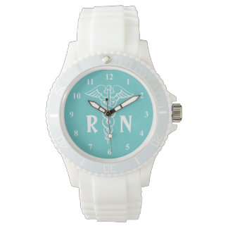 Registered nurse watch | caduceus with RN monogram