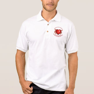 Registered Nurse With Red Heart In Hands Polo Shirt