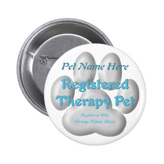 Registered Therapy Pet 2 Inch Round Button