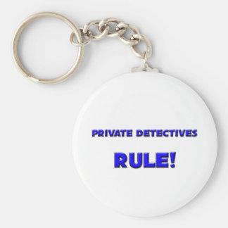 Règle de détectives privés ! porte-clé