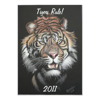 Règle de tigres ! carton d'invitation  12,7 cm x 17,78 cm