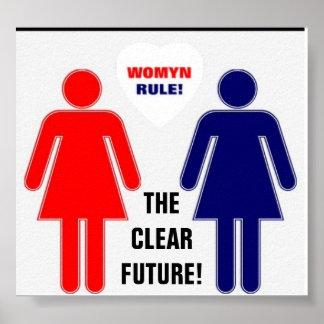 RÈGLE DE WOMYN L'AVENIR CLAIR ! AFFICHES