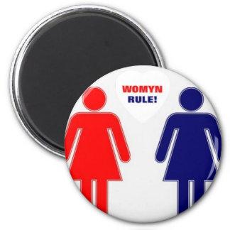 RÈGLE DE WOMYN ! MAGNET ROND 8 CM