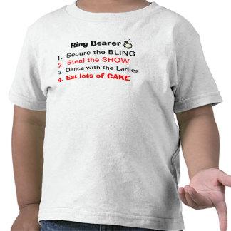 Règles d un T-shirt de porteur d alliances