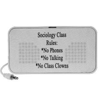 Règles de cours de sociologie aucuns téléphones au mini haut-parleur